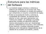 estructura para las m tricas del software