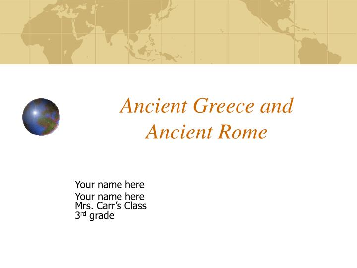 ancient greece and ancient rome n.