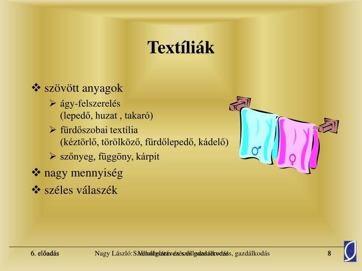 Textíliák