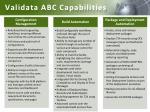 validata abc capabilities