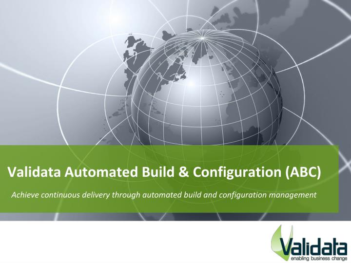 validata automated build configuration abc n.