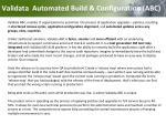 validata automated build configuration abc1