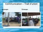 communication trait d union