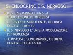 s endocrino e s nervoso