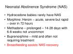 neonatal abstinence syndrome nas