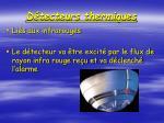 d tecteurs thermiques
