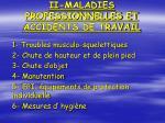 ii maladies professionnelles et accidents de travail