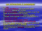 les informations communiquer
