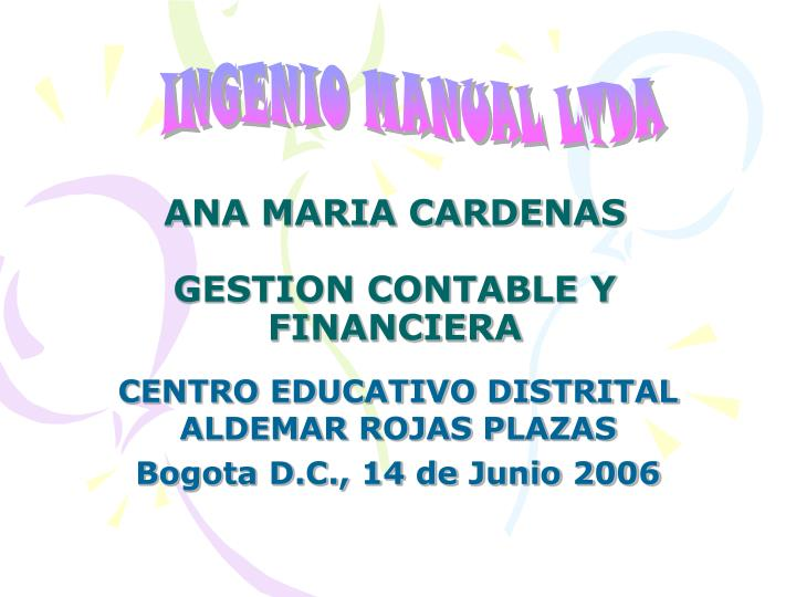 ana maria cardenas gestion contable y financiera n.