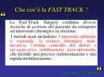 che cos la fast track