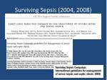 surviving sepsis 2004 2008