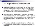 1 11 approches d intervention