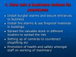 4 how can a business reduce its premiums