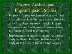 process analysis and implementation studies1