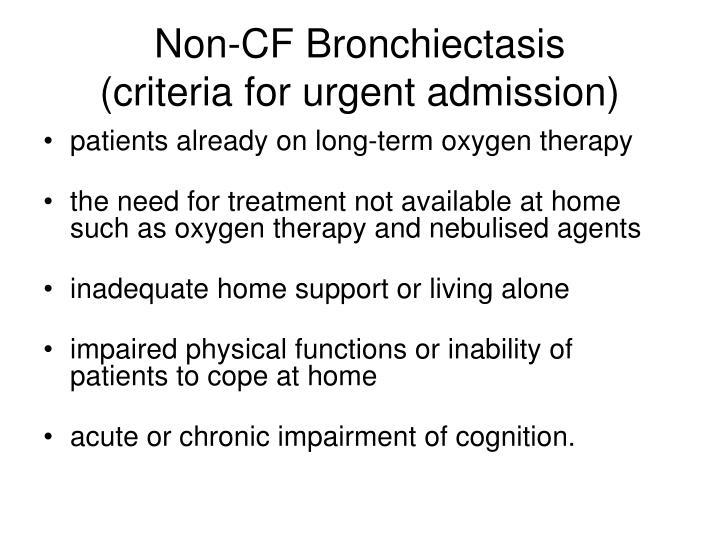 Non-CF Bronchiectasis