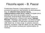 filozofia epoki b pascal