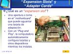 expansion slots y adapter cards1