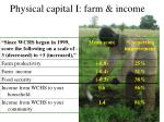 physical capital i farm income