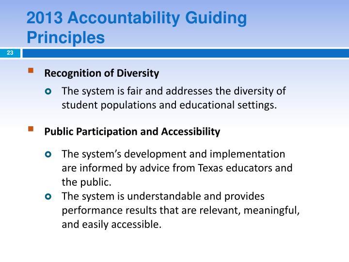 2013 Accountability Guiding Principles