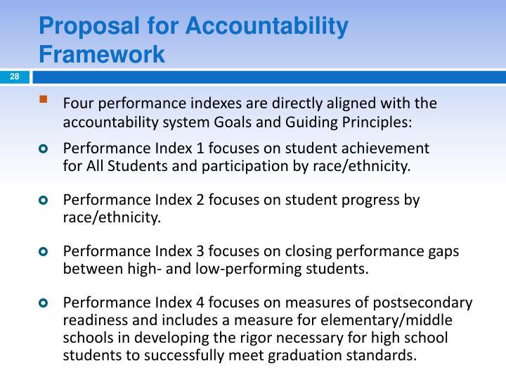 Proposal for Accountability Framework