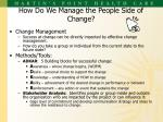 how do we manage the people side of change