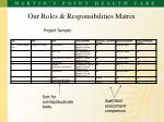 our roles responsibilities matrix
