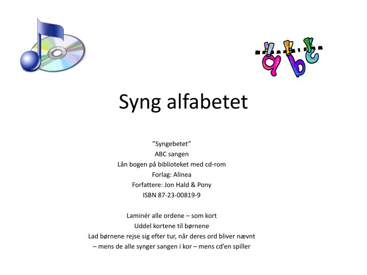 syng alfabetet n.