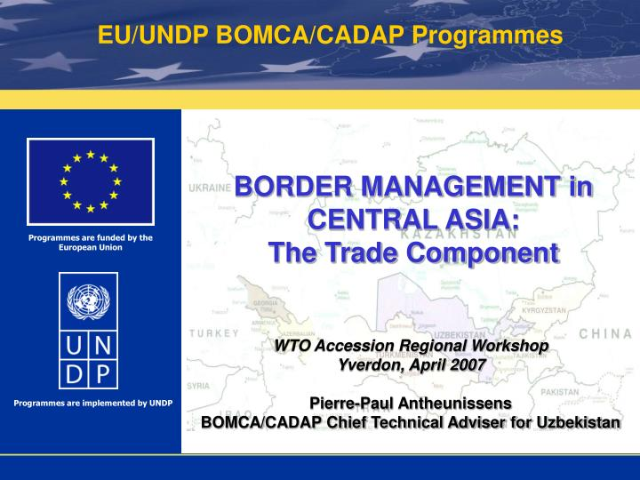 border management in central asia the trade component n.