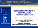 border management in central asia the trade component