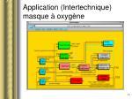 application intertechnique masque oxyg ne