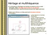 h ritage et multifr quence