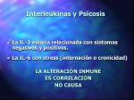 interleukinas y psicosis