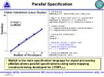 parallel specification