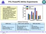 pvl powerpc altivec experiments