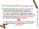 4 prove scritte b lingue com
