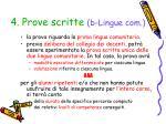 4 prove scritte b lingue com1