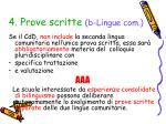 4 prove scritte b lingue com2
