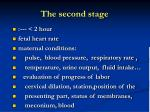 the second stage