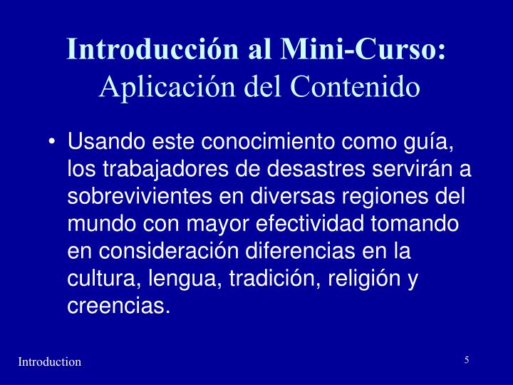 Introducción al Mini-Curso: