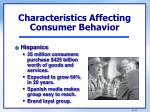 characteristics affecting consumer behavior1