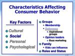 characteristics affecting consumer behavior5
