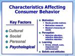 characteristics affecting consumer behavior8