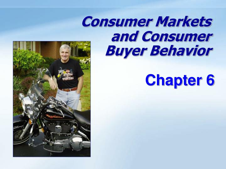 consumer markets and consumer buyer behavior n.