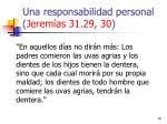 una responsabilidad personal jerem as 31 29 30