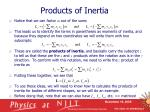 products of inertia