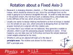 rotation about a fixed axis 3