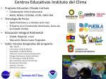 centros educativos instituto del clima