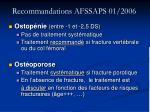 recommandations afssaps 01 2006