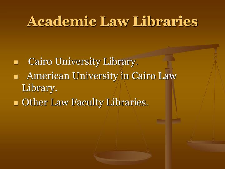 Academic Law Libraries