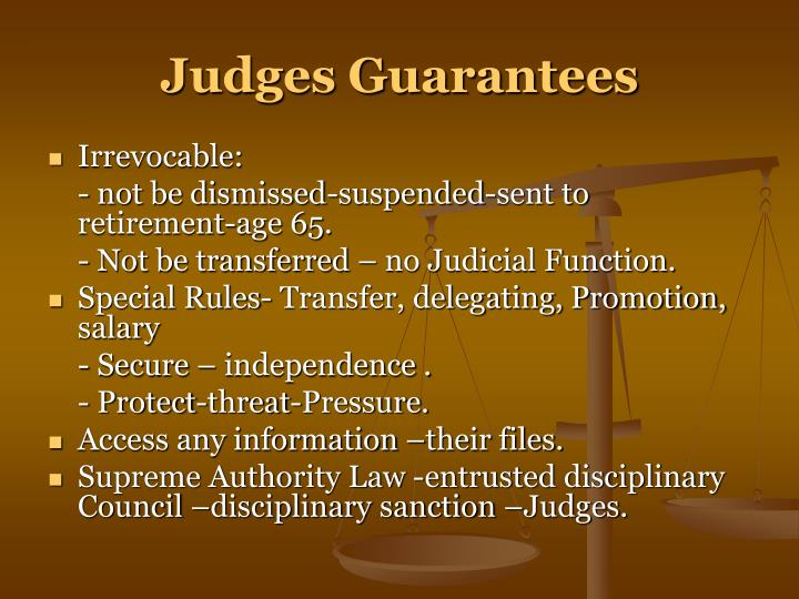 Judges Guarantees